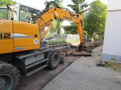 Straßenbau - Mühlberg Magdeburg
