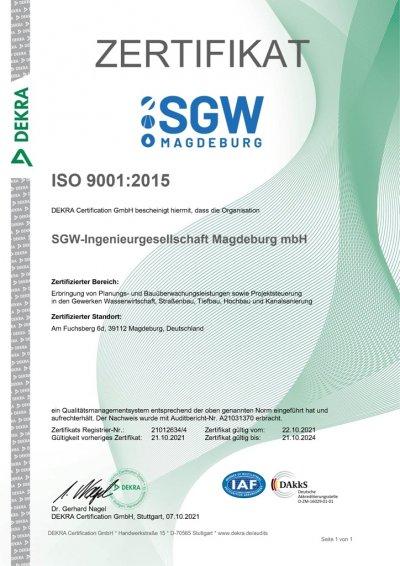DIN ISO Zertifikat