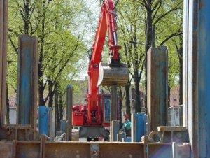 Magdeburg-Reform, Neubau Schmutz- und Regenwasserkanal